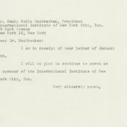Telegram : 1948 January 8
