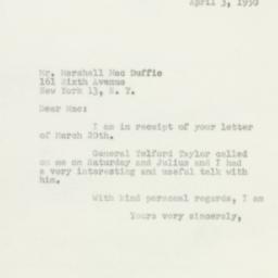 Letter : 1950 April 3