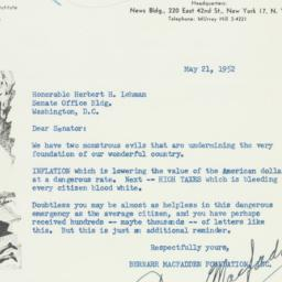 Letter : 1952 May 21