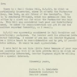 Letter : 1951 June 9