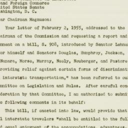 Letter : 1955 February 16