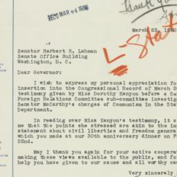 Letter : 1950 March 23