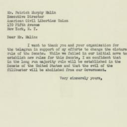 Telegram : 1953 January 15