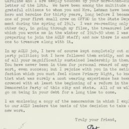 Letter : 1961 September 14