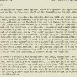 Letter : 1951 February 7