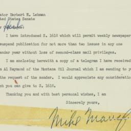 Telegram : 1955 April 8