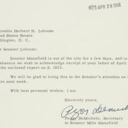 Letter : 1956 April 27