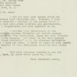 Letter : 1949 February 25