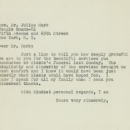 Letter : 1950 February 21