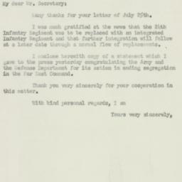 Letter : 1951 July 28