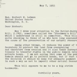 Letter : 1953 May 7