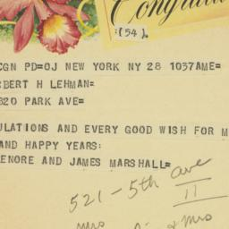 Letter : 1958 March 28