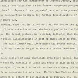 Press release : 1951 Januar...