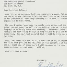Letter : 1961 December 14