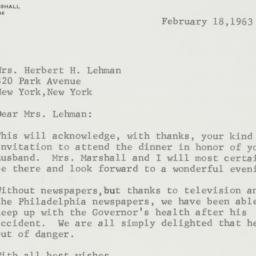 Letter : 1963 February 18