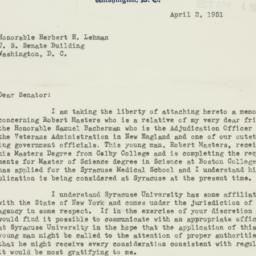 Ephemera : 1951 April 2