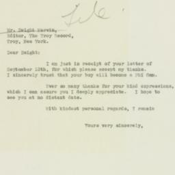 Letter : 1932 September 17
