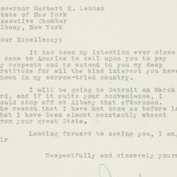 Telegram : 1942 February 16