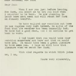 Letter : 1946 December 31