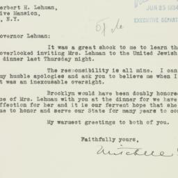 Letter : 1934 June 23