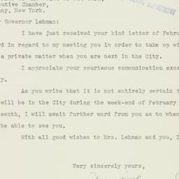 Letter : 1936 February 5