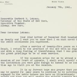 Letter : 1941 January 7