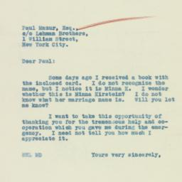 Letter : 1933 March 16
