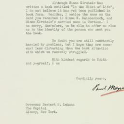 Letter : 1933 March 17