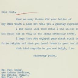 Letter : 1936 June 1