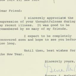 Letter : 1960 December 26