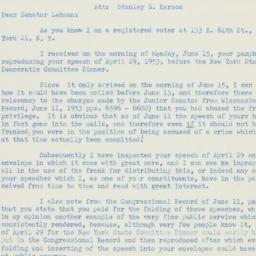 Letter : 1953 June 16