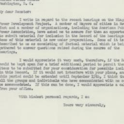 Letter : 1951 August 31