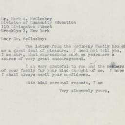Letter : 1954 February 11