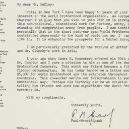 Letter : 1954 November 1