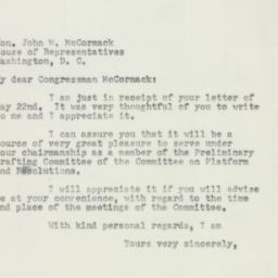 Letter : 1952 May 26