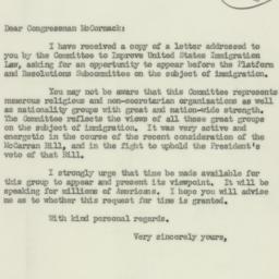 Letter : 1952 July 9