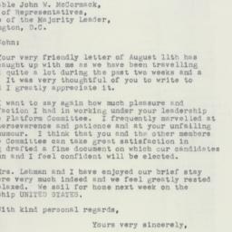 Letter : 1952 September 4