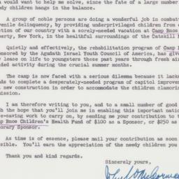 Letter : 1961 June 19