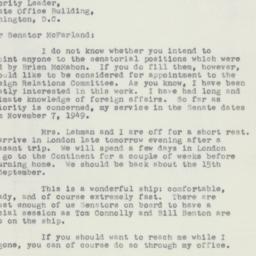 Letter : 1952 August 12