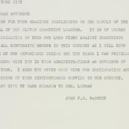 Telegram : 1949 October 15