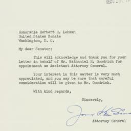 Letter : 1952 July 18