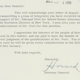 Letter : 1951 August 30