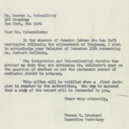 Letter : 1951 December 20