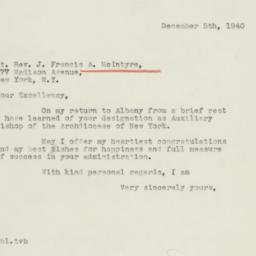 Letter : 1940 December 5