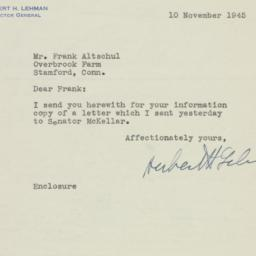 Letter : 1945 November 10