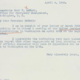Letter : 1942 April 4