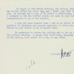 Memorandum : 1955 August 26