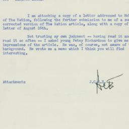 Memorandum : 1955 August 27