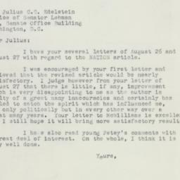 Letter : 1955 August 31