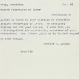 Letter : 1952 November 26